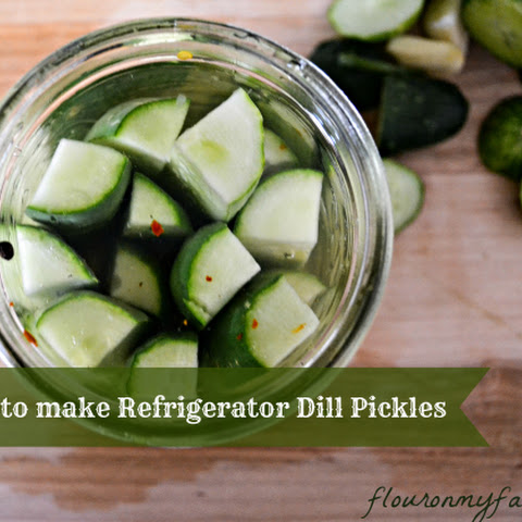 Refrigerator Garlic Dill Pickles No Sugar Recipes | Yummly