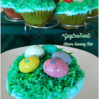 Colourful Surprise Easter Cupcakes