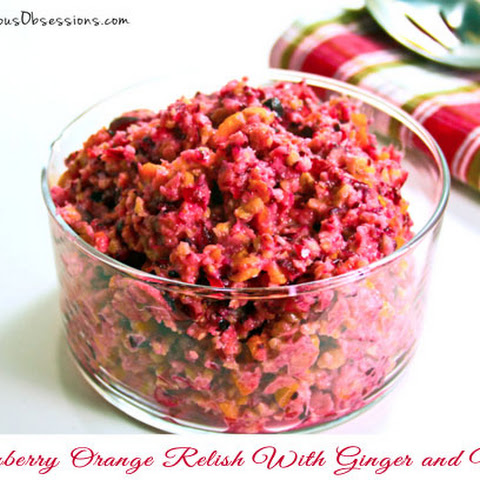 Cranberry Orange Relish With Ginger and Nuts