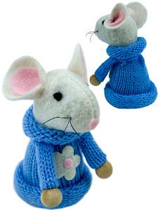 """Игрушка мягконабивная плюшевая """"Мышка 7см"""", синяя"""