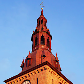 Churce spire by Kenneth Spaberg - Buildings & Architecture Architectural Detail ( building, details, spire, church, oslo, architecture, norway )