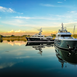 Floating Metal by Norhan Sukaatti - Transportation Boats ( mobilography, reflection, horizontal, serenity, transportation )