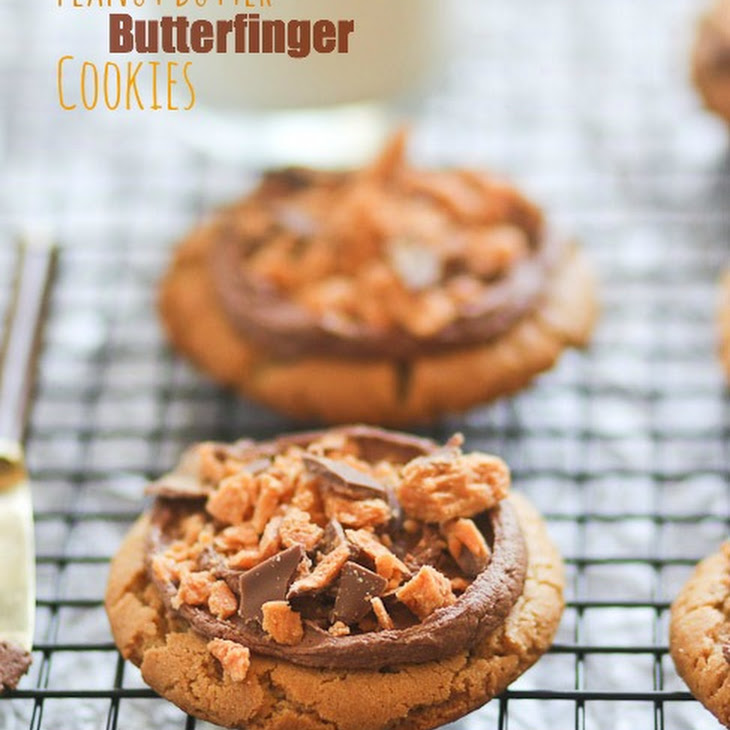 Chocolate Peanut Butter Butterfinger Cookies