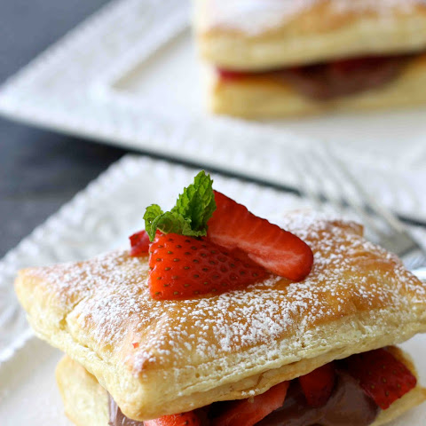 Strawberry & Chocolate Cream Cheese Napoleon