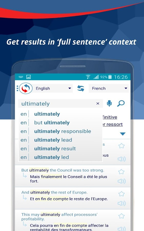 Reverso Translation Dictionary Screenshot 1