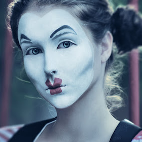 Sad day by Diana Grigore - People Portraits of Women ( film, cool, girl, clown, makeup, movie, emotive, fun, expressive, photography, portrait )