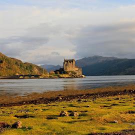 Eilean Donan Castle by Chuck Zacharias - Landscapes Travel ( landmark, scotland, sunset, castle, travel, bridge, landscapes, travel photography,  )