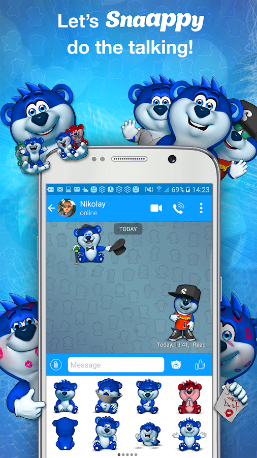 Snaappy Messenger Screenshot 1