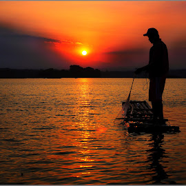 Late Fishing by Soffin Arfian - Landscapes Sunsets & Sunrises