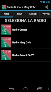 Radio Guinot / Mary Cohr - screenshot