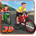 Kids Bicycle Rider Street Race