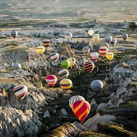 Hot air balloons by Stefania Loriga - Transportation Other ( sky, colors, hot, air, balloons,  )
