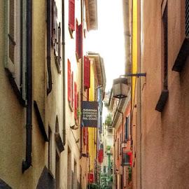 Ascona Alley by Dana Walker - Instagram & Mobile iPhone ( old, ascona, switzerland, stone, walkway, iphone, alley )