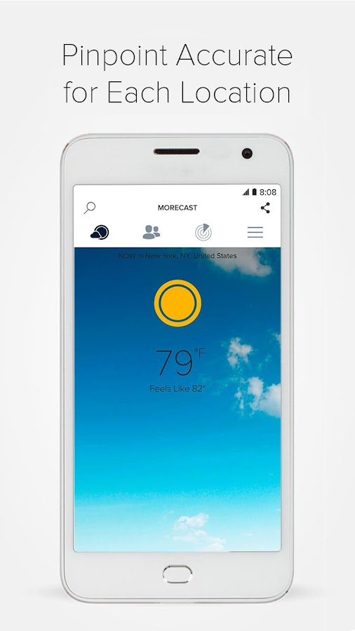 Weather & Radar - Morecast App Screenshot 1