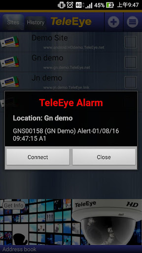 TeleEye iView HD for Phone - screenshot
