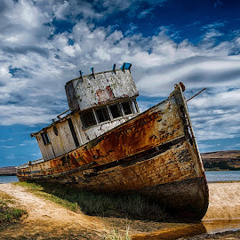This old boat by Craig Turner - Transportation Boats ( beached, ship, wreck, ship wreck, old boat, boat, decaying )