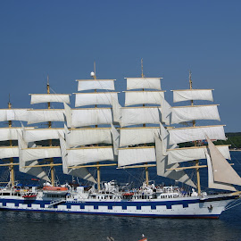 Sailship in Croatia by Benny Berget - Transportation Boats