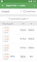 Screenshot of Capitaine Train: train tickets
