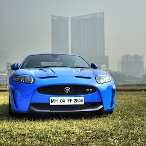 Jaguar XR-5 by Mangesh Jadhav - Transportation Automobiles ( car, jaguar, blue )