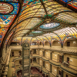 Gran Hotel  by Ole Steffensen - Buildings & Architecture Office Buildings & Hotels ( gran hotel ciudad de méxico, mexico city, mexico, jacques grüber, hotel, mosaic, stained-glass, art noveau )