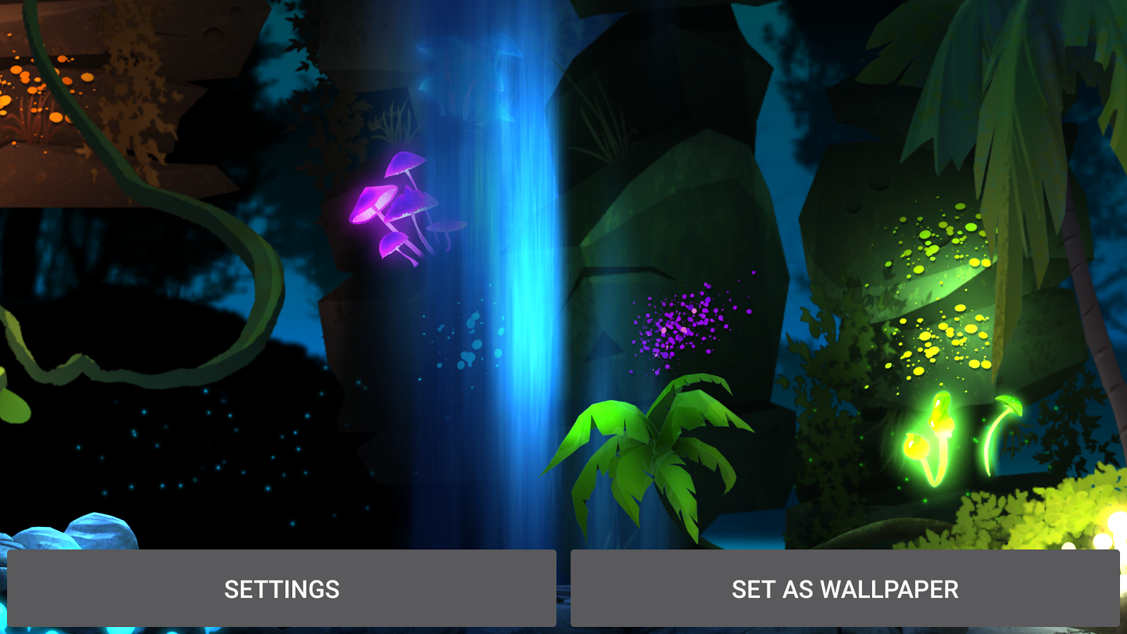 Glowing Jungle Live Wallpaper Screenshot 11