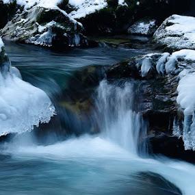 winter by Mrak Rado- Fotograf - Landscapes Waterscapes ( ice, slovenia, snow, waterfall, vintgar )