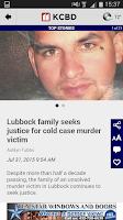 Screenshot of KCBD News 11