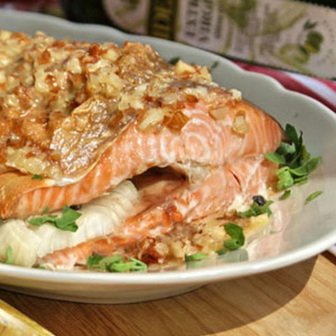 Baked Trout with Almond Sauce