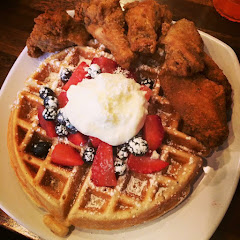 Gluten-free chicken and waffles...yes, I said gluten free :D