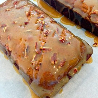 Pecan Pumpkin Bread with Warm Caramel Glaze