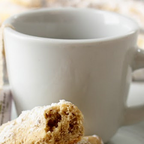 Hazelnut Crescent Cookies