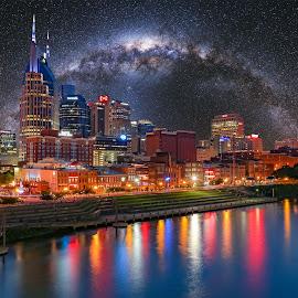 Nashville Under The Stars by Scott Padgett - City,  Street & Park  Vistas ( nashville, tennessee, city )