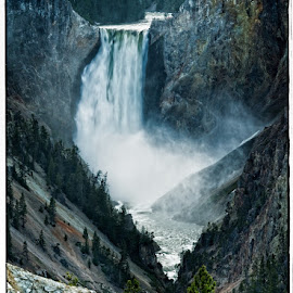 Yellowstone Falls by Eugene Dopheide - Landscapes Mountains & Hills ( mountains, waterfall, landscape, yellowstone nat'l park )