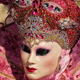 Venetian mask by Bojan Porenta - People Musicians & Entertainers ( italia, carnival, carnevale, mask, maschera, veneziana, italy, venetian )