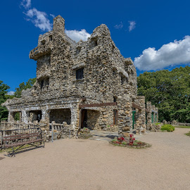 Gillette Castle State Park, East Haddam, Connecticut by Jan Gorzynik - Buildings & Architecture Public & Historical ( william, old, haddam, stone, rock, house, architecture, landscape, spring, rustic, sherlock, historic, holmes, england, stairs, sky, william gillette, dwelling, fortress, artist, east, sherlock holmes, balcony, scary, hill, building, mansion, park, spooky, gillette, landmark, connecticut, residence, new england, strong, castle, palace, gillette castle, medieval )