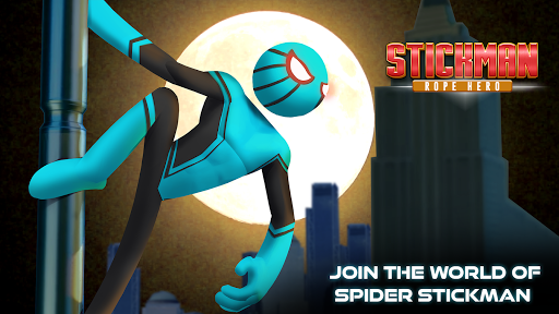 Amazing Stickman Spider Rope : Gangster Vice City For PC
