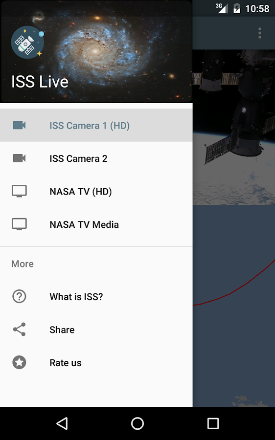ISS Live - HD Earth viewing and NASA library Screenshot 12