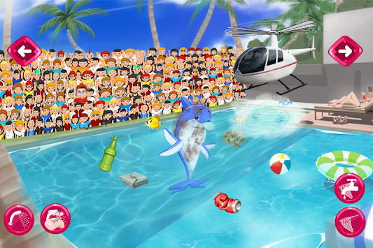 Pool dolphin show apk 7 1 free casual apps for android for Pool game show