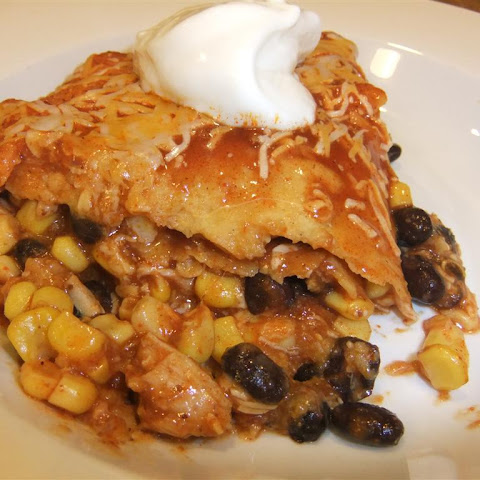 Easy Healthy Chicken Enchilada Bake