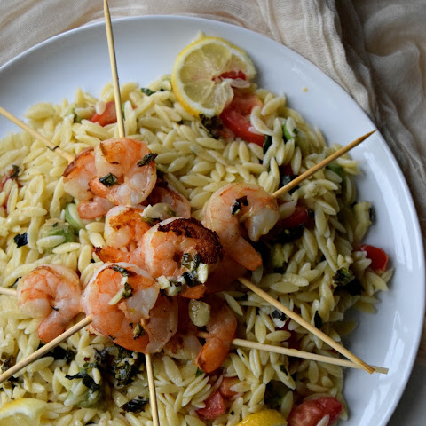 Lemon Basil Shrimp Skewers featuring HelloFresh