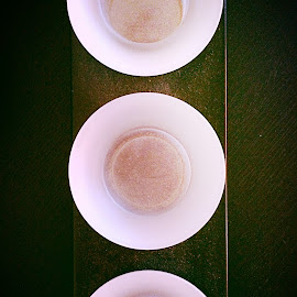 In a row by Mari du Preez - Instagram & Mobile iPhone ( wood, white, glass, table, black )