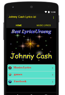 Johnny Cash Lyrics izi - screenshot