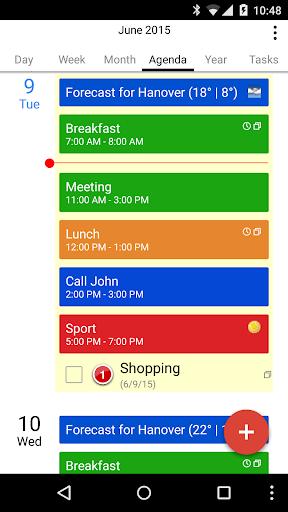 CalenGoo - Calendar and Tasks - screenshot