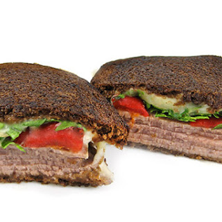 A Delectable Gourmet Grilled Roast Beef and Cheese Sandwich