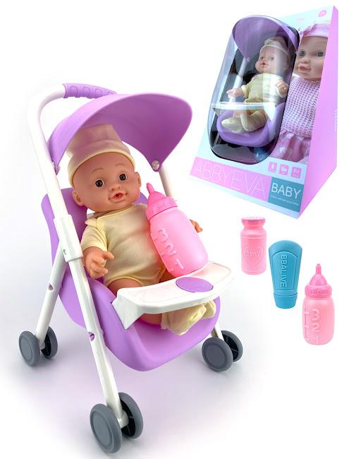 Кукла интерактивная Anna De Wailly, IQ, с Коляской, Семен