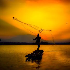 Fisherman by Muhammad Yoserizal - Landscapes Sunsets & Sunrises