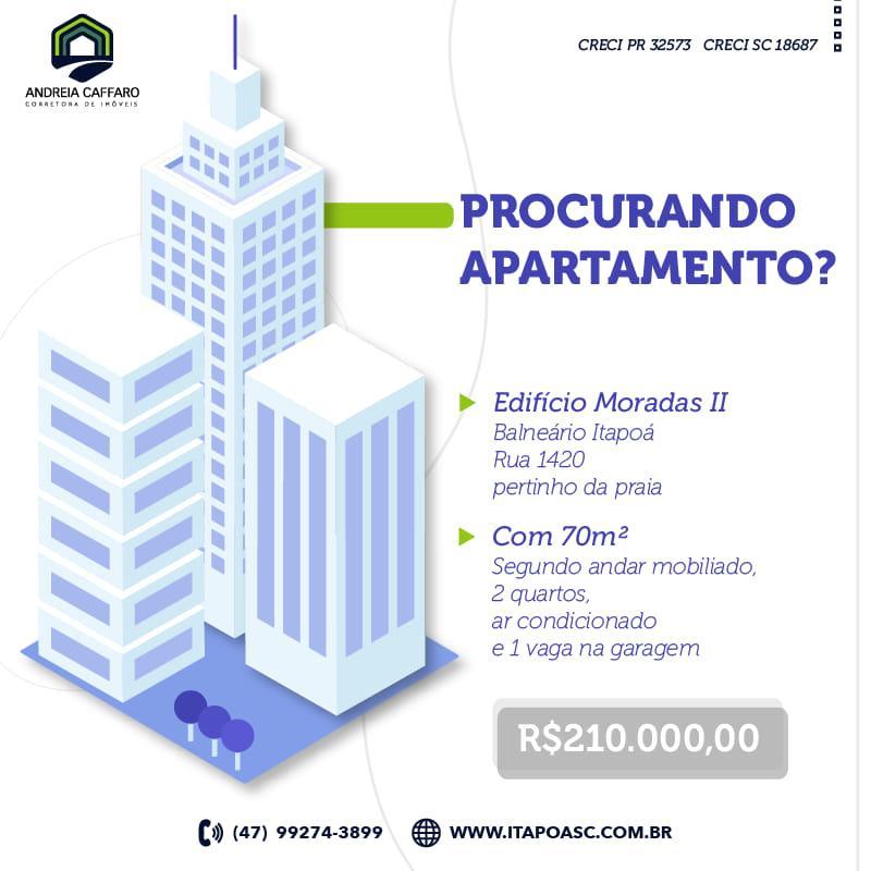 Apartamento com 2 dormitórios à venda, 70 m² por R$ 210.000 - Itapoá - Itapoá/SC