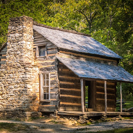 First Cabin by Jennifer  Loper  - Buildings & Architecture Public & Historical ( tennessee, smoky national park, cabin, restored, cades cove )