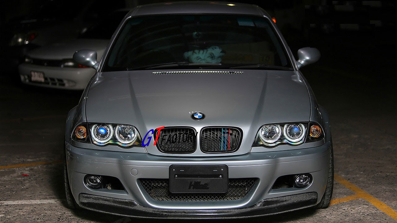 carbon front lip spoiler csl style for bmw e46 m3 only ebay. Black Bedroom Furniture Sets. Home Design Ideas