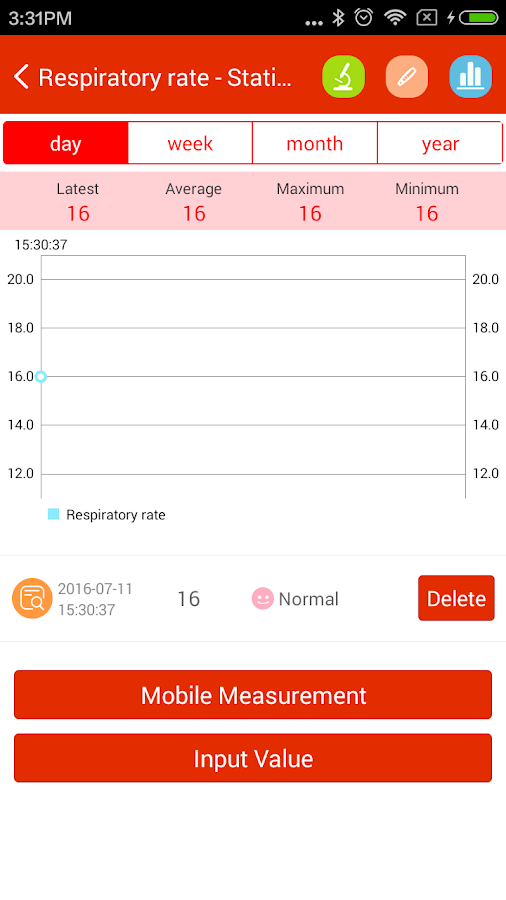 iCare Respiratory Rate Pro Screenshot 2
